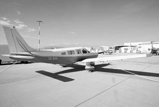 Piper Pa 32R Saratoga landed